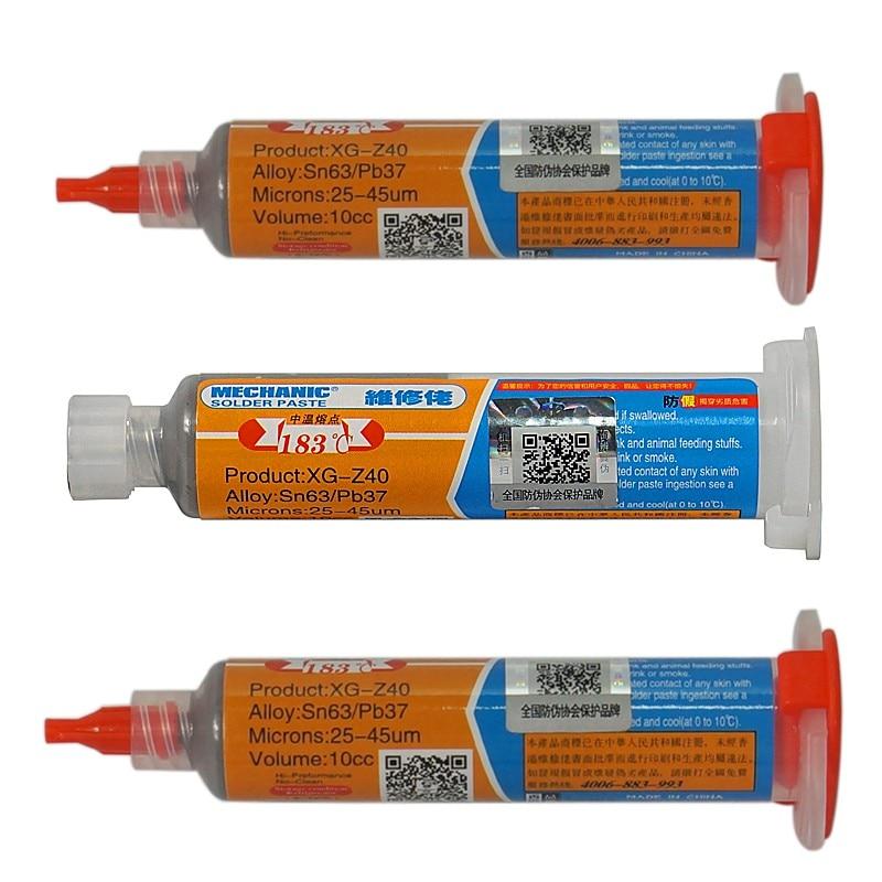 Professional Solder Paste/High-quality Professional Solder Paste SMT Tin BGA Syringe XG-Z40 Flux Solder Paste Repair Tools