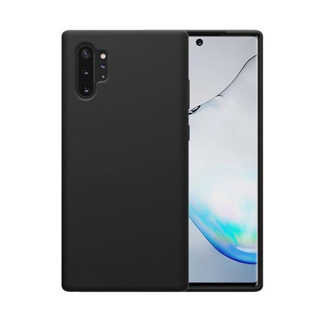 לסמסונג גלקסי הערה 10 10 + בתוספת Samsung Galaxy Note 10 10 + Plus Pro 5G בחזרה תמיכה אלחוטי טעינה NILLKIN להגמיש טהור מקרה רך סיליקון גומי