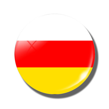 The Republic of South Ossetia Flag Souvenirs Magnetic Sticker Glass Cabochon Crystal Fridge Magnets for Refrigerators Decor image