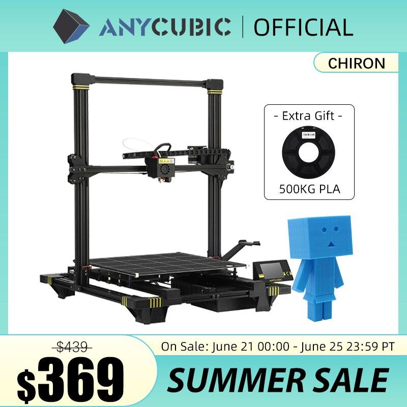 3D-принтер ANYCUBIC Chiron большого размера 400x400x450mm ³ экструдер двойная ось Z FDM 3D принтер s PLA нити 3D печать