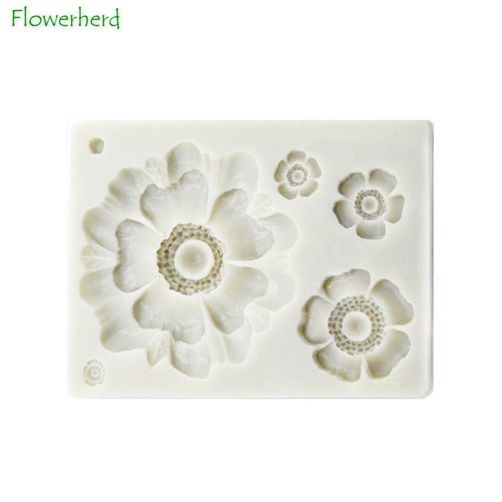 3D Fleur Rose Fondant Cake Chocolate Decorating Mold Modelling Outil Moule-S