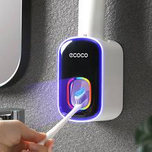 Montagem na parede automático dispensador de pasta dentífrico acessórios do banheiro conjunto dispensador de dentes do banheiro titular ferramenta