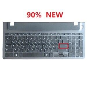 Image 2 - لوحة مفاتيح الكمبيوتر المحمول الروسية مع الإطار لسامسونج NP 355E5C NP355V5C NP300E5E NP350E5C NP350V5C BA59 03270C RU