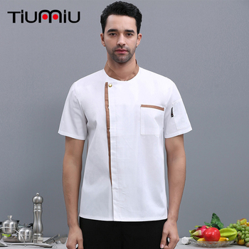 Wholesale Unisex Chef Jackets Hotel Kitchen Restaurant Uniforms Shirts Catering Work Clothes Cafe Bakery Barber Sushi Costume фото