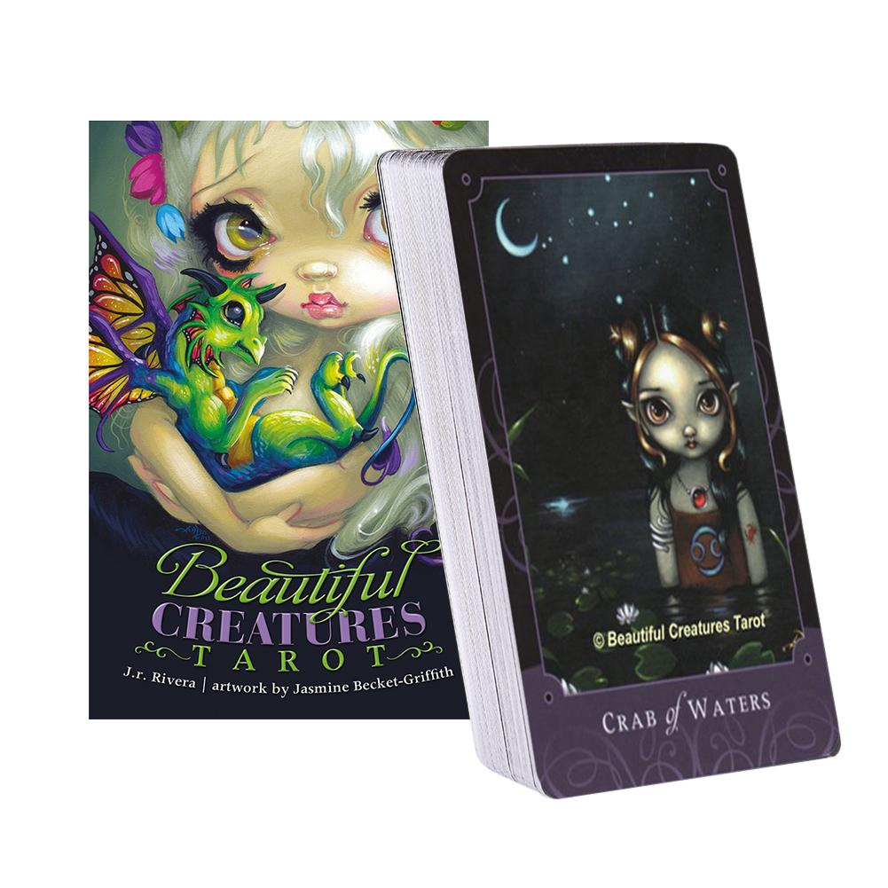 80pcs Beautiful Creatures Tarot Cards Board Games For Party Playing Card Entertainment Deck Table Game Guidance Divination Fate