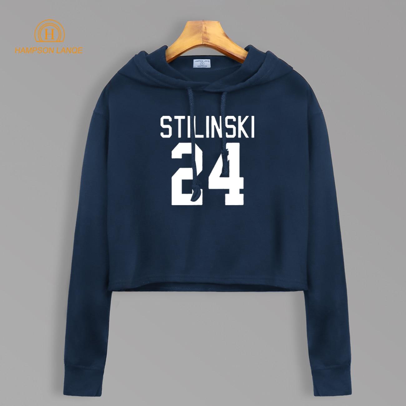 Teen Wolf Stilinski 24 Short Style Sweatshirt Autumn 2019 TV Show Women Kawaii Cotton Cropped Hoodie Sexy Pullovers For Fans