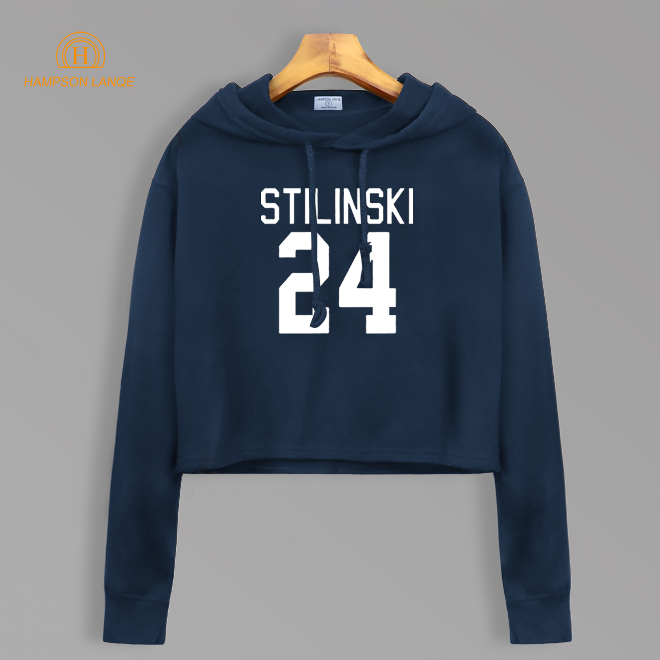 Teen Wolf Stilinski 24 Short Style Sweatshirt Autumn 2020 TV Show Women Kawaii Cotton Cropped Hoodie Sexy Pullovers For Fans