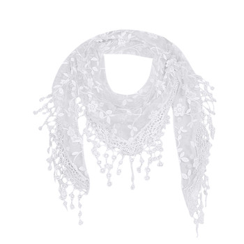 high quality top selling product 2020 Women Lace Sheer Floral Scarf Shawl Wrap Tassel Scarf Support
