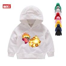 Cute Kirby Girl White Hoodies Kids Game Sweatshirts Allies Characters Children Winter Long Sleeves Tops Pink