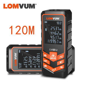 LOMVUM LV 66U Handhold Laser Rangefinder Digital Laser Distance Meter Electrical Level Tape Misuratore Laser Distance Measurer(China)