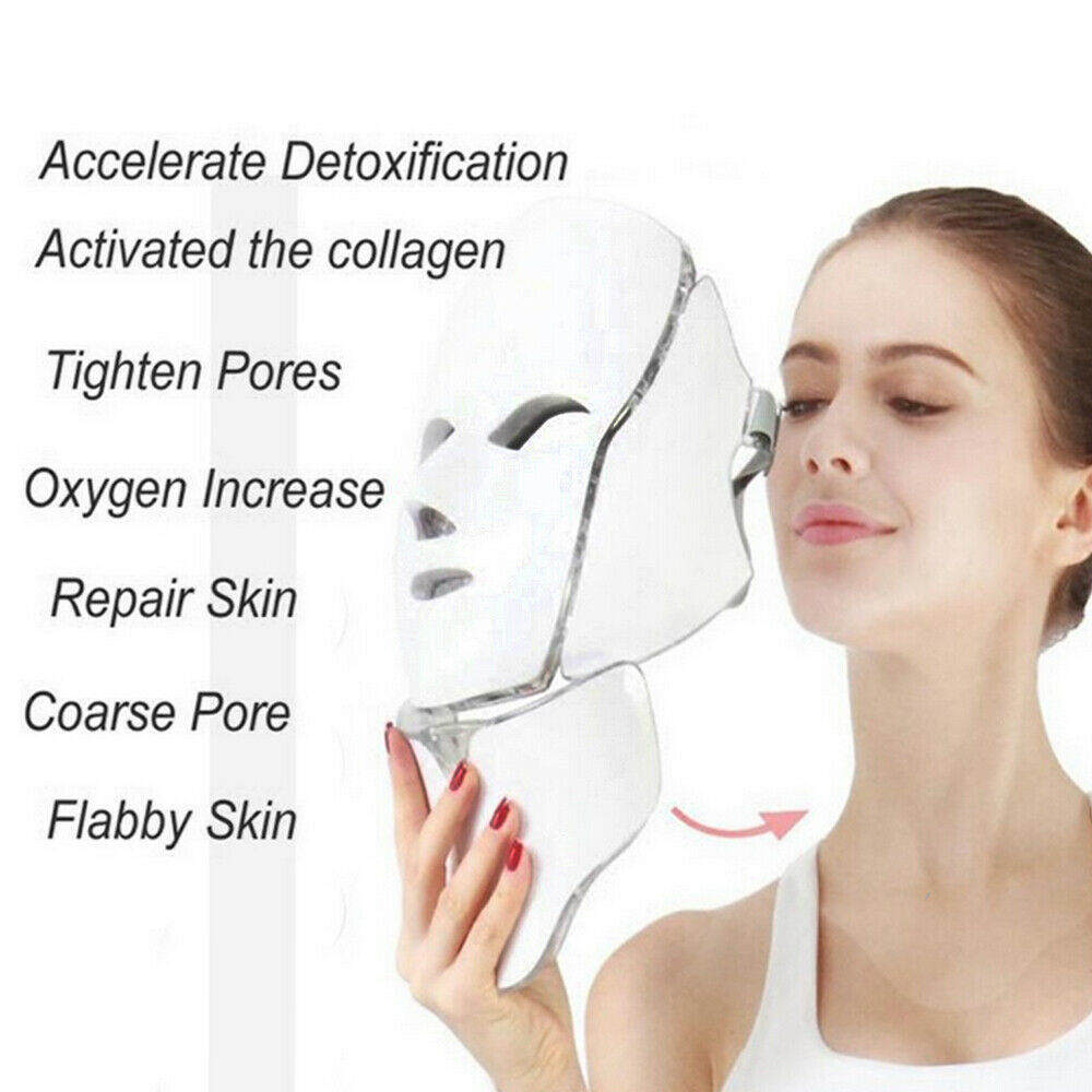 Facial Led 7 Colors LED Light Photon Therapy Mask Treatment TL50 Skin Rejuvenation Whitening Facial Beauty Daily Skin