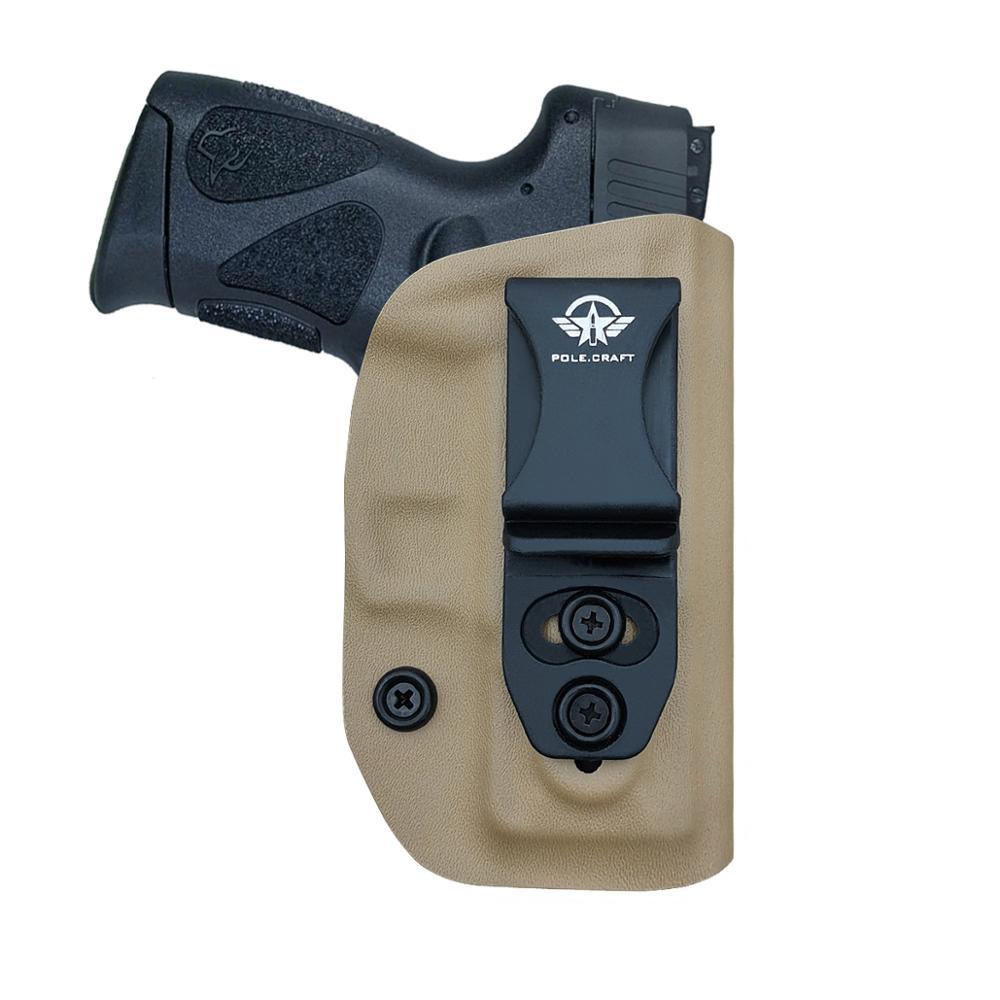 Spor ve Eğlence'ten Kuburluklar'de Kydex IWB kılıfı toros G2C ve Millennium PT111 G2/PT140 9mm tabanca durumda kemer taşıma gizli kılıf silah çantası title=