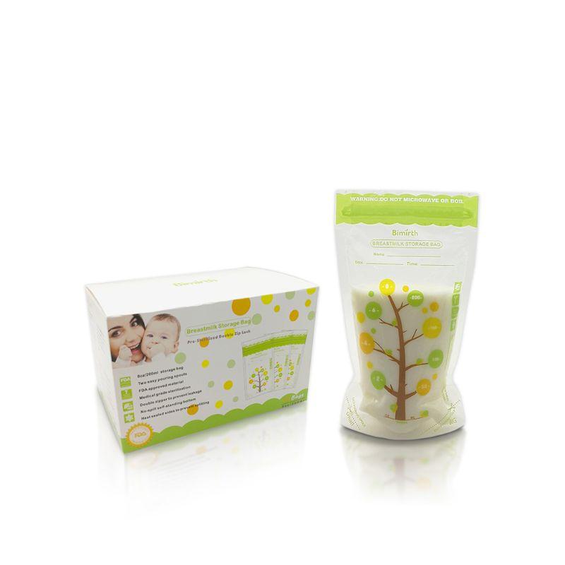 112Pcs Baby Breast Milk Storage Bags Leak Proof Sterilized Freezer Storage Bag