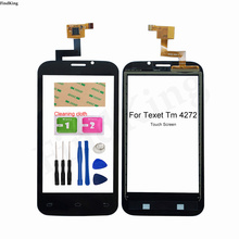 4inch Mobile Touch Screen For Texet TM-4272 X-basic 2 TM 4272  Touch Screen Lens Sensor Digitizer Panel Tools