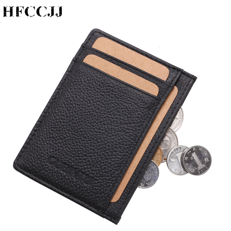 NEW Fashion Genuine Leather Men's Wallet With Creative Card Holder Small Money Purses Design Dollar Slim Purse Wallet HC193