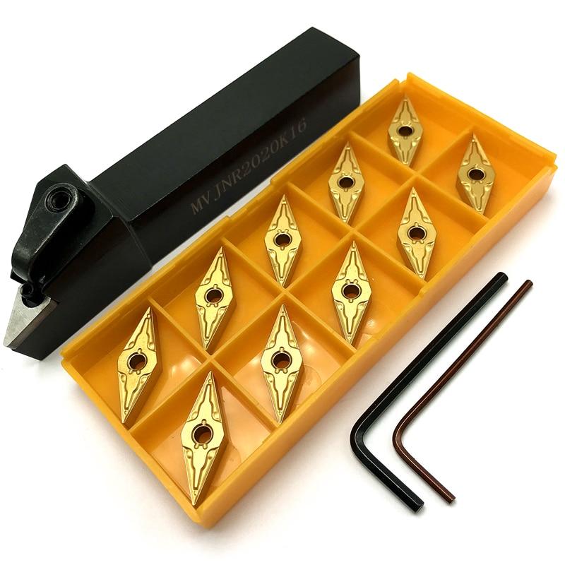 MVJNR1616K16 MVJNR2020K16 MVJNR2525M16 External Turning Tool Holder +10PCS Carbide Insert VNMG160404 /08 Lathe Cutting Tools Set