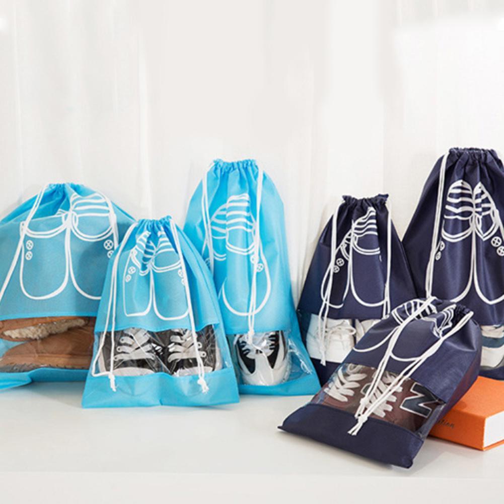 Portable Dustproof Drawstring Shoes Storage Bag Organizer Outdoor Travel Supply
