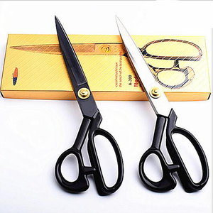 Professional Tailor Scissors Cutting Scissors Vintage Stainless Steel Fabric Leather Cutter Craft Scissors For Sewing Accessory(China)