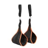 1 пара мягких подвесных подвешивающих ремней подтягивающие ремни Брюшная Тренировка мышц Chinup Crossfit мускулы резчик оборудование для тренаже...