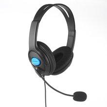 חדש 1.9m Wired מחשב משחקי אוזניות עם מיקרופון קסדה אודיו אילם מתג רעש ביטול אוזניות עבור PS4 Sony פלייסטיישן