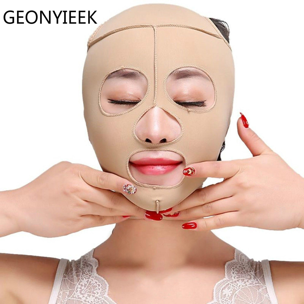 Full Face Lift Mask Thin Face Tools Health Care Massage Slimming Facial Massage Bandage S/M/L/XL Lift-up Chin V Face Shaper