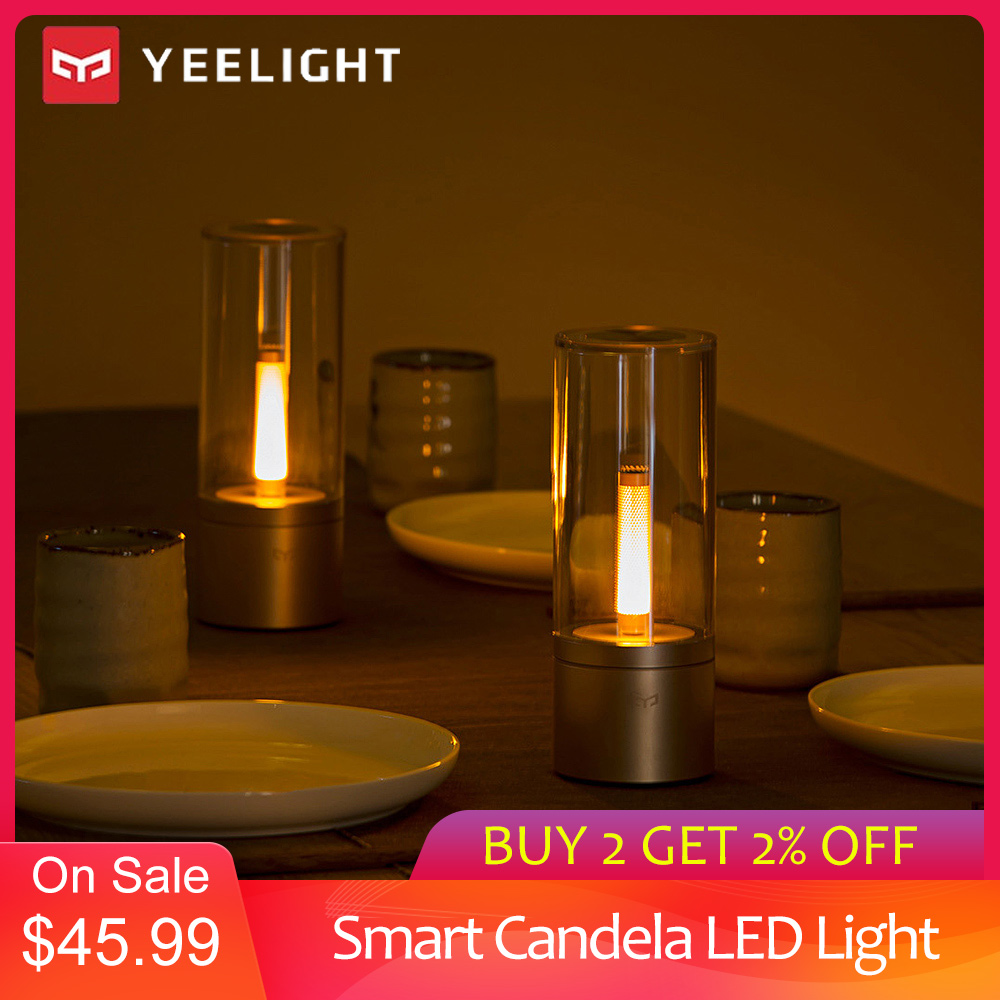 Yeelight YLFW01YL Smart Candela Light 6W LED Wireless Mijia App Control Yellow Home Light For Atmosphere Lamp Bedroom