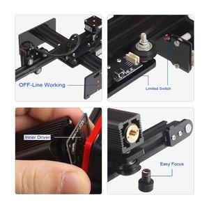 Image 2 - KKmoon 20000mW DIY masaüstü lazer gravür yazıcı taşınabilir gravür oyma makinesi Mini Carver Metal ahşap oyma