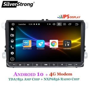 Image 4 - SilverStrong Android10.0 Modem IPS 4G samochód 2Din Radio GPS dla volkswagena Tiguan Golf MK6 MK5 opcjonalnie DSP TPMS DVR
