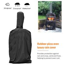 Black Outdoor Pizza Oven Rainproof Cover Barbecue Box Dust Proof Waterproof PVC Coating BBQ