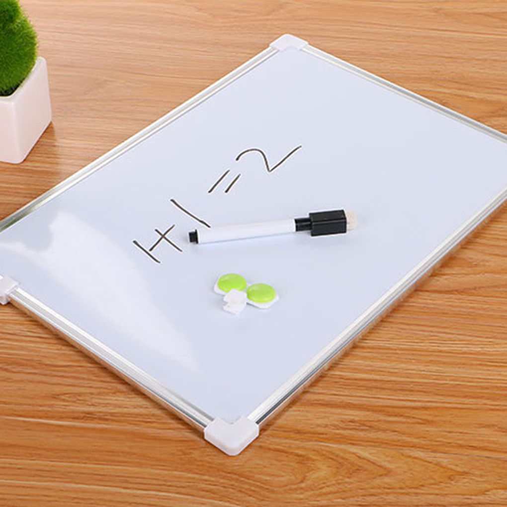 2019 Hot Sale Double Side  Whiteboard Dry Erase Writing Board Pen Magnets Buttons Office School