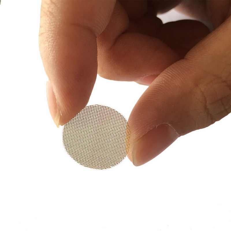 금속 유리에 대 한 100pcs 실버 파이프 화면 Shisha/물 담 뱃 대/Chicha/narguile에 대 한 목조 아크릴 물 담배 파이프 필터