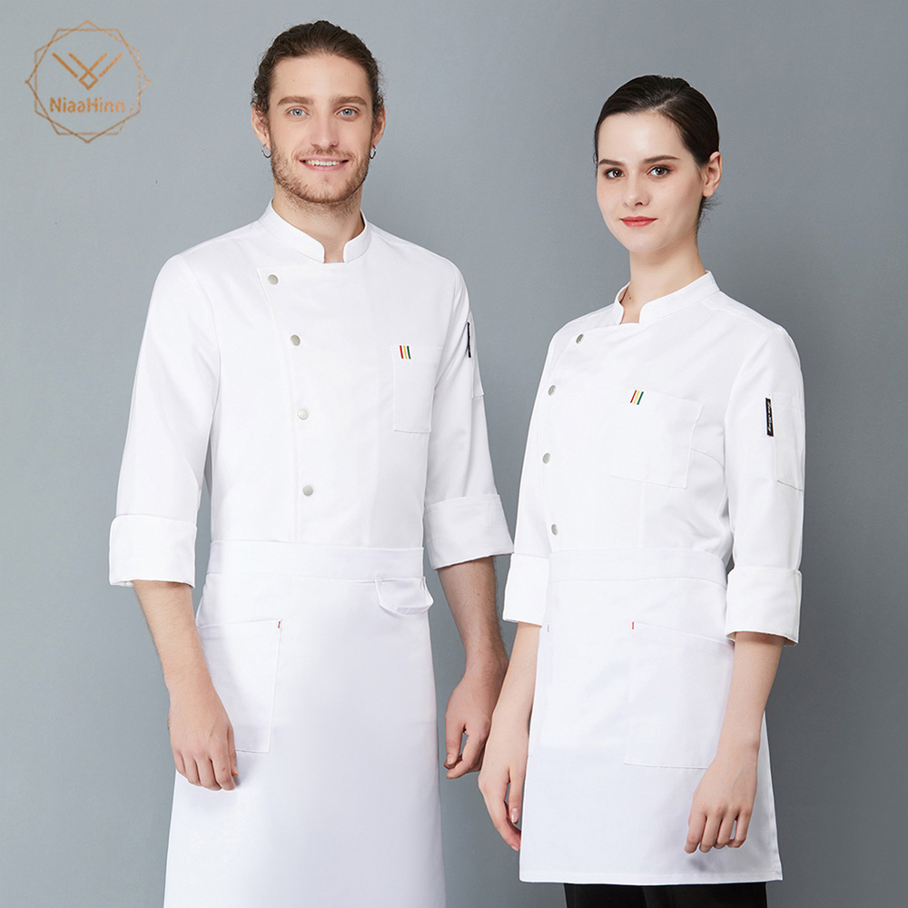 High Quality Chef Jacket Catering Cooker Coats Food Service Restaurant Uniforms Shirts Long Sleeves Hotel Kitchen Work Clothes