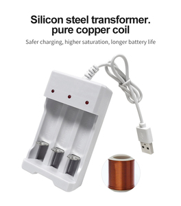 Image 4 - VOXLINK cargador de batería USB con 3 ranuras, cable USB para cargador de pilas recargables AA/AAA para cámara de micrófono de control remoto