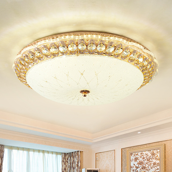 2020 Gold plating Round Modern Led Ceiling Lights For Living Room Bedroom Study Room Three-colour Ceiling Lamp Fixtures