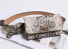 2019 Vintage Snake Skin Waist Bags Women Serpentine PU Leather Belt Phone Bag Woman Purse Designer Fanny Pack Fashion New