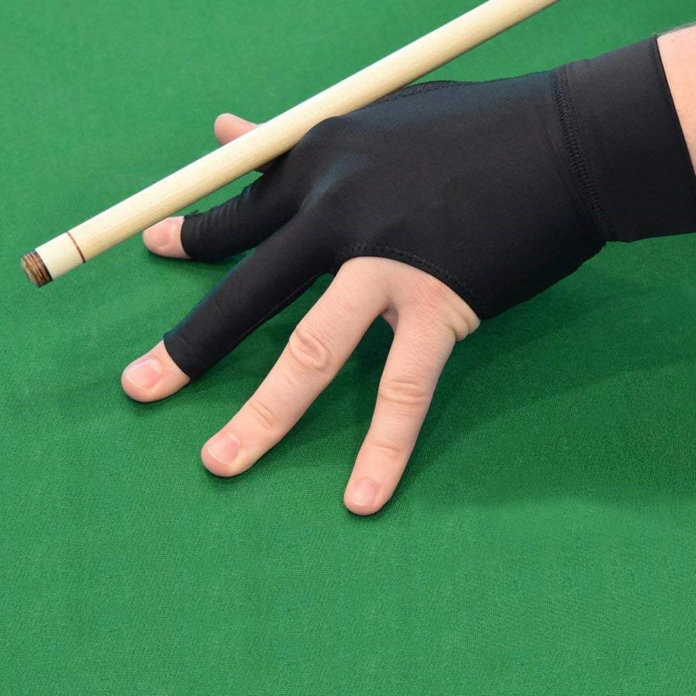1Pcs Spandex Snooker Billiard Cue Glove Pool Left Hand Open Three Finger Fitness Accessories Unisex