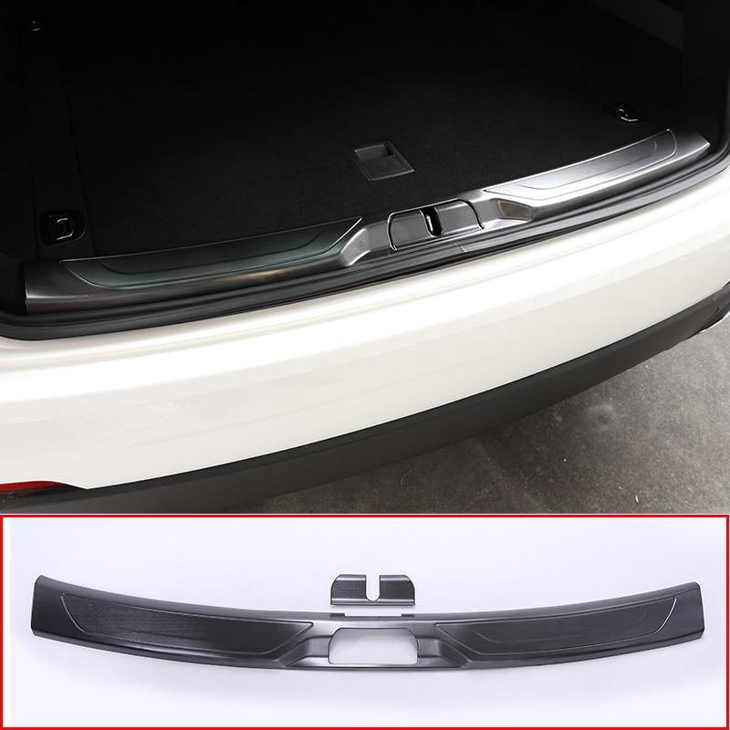 Cubierta protectora de la placa del parachoques de la cola trasera de acero 304 negra para Maserati Levante SUV 2016 accesorios del coche 2 piezas