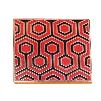 Stephen King Hotel Overlook brillante hexagonal pin esmalte de la brillante alfombra Pantone broche de inspiración