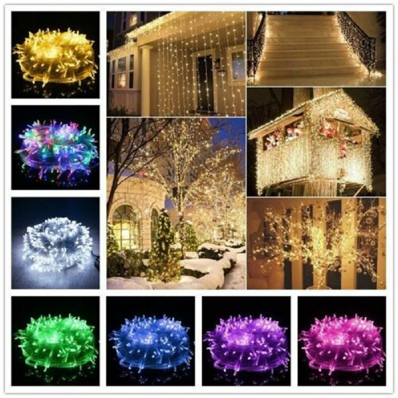 10M 100 Led String Garland Fairy Light Chain Waterproof Home Garden Outdoor Holiday New Year Christmas Decorations For Home