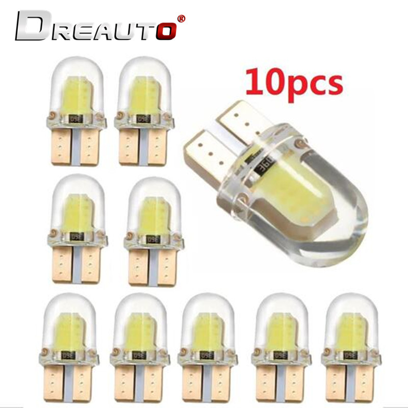 10PCS Car Styling Car Auto T10 Canbus 194 W5W LED Light Bulb For Skoda Octavia A5 A7 2 Fabia Rapid Superb 2 Kodiaq Yeti Roomster image
