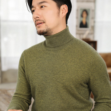 Knitted Sweaters Turtleneck Pullovers Jumpers Long-Sleeve Men 100%Goat-Cashmere Standard
