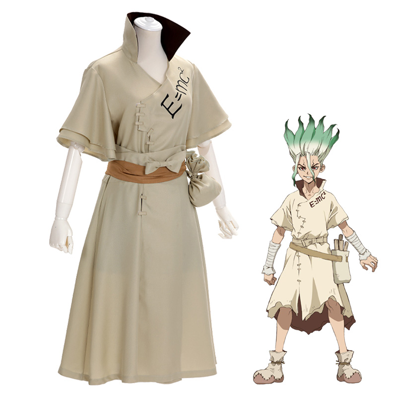 2019 Anime Dr. Stone Cosplay Costume Ishigami Senku costumes Uniforms Belt Bandage Outfit Fancy Carnival Suit Halloween Costumes