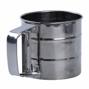 Image 2 - Stainless Steel Mesh Flour Sifter Mesh Flour Bolt Sifter Manual Sugar Icing Shaker Mechanical Baking Shaker Sieve Kitchen Tools