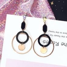 Titanium steel earrings Korean East Gate fashionable Round Ring Earrings Fashion temperament simple for women