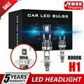 СВЕТОДИОДНЫЙ Автомобильный светильник H1, 2 шт., 110 Вт, 200 лм, противотуманный светильник, 8000 К, Ледяной Синий