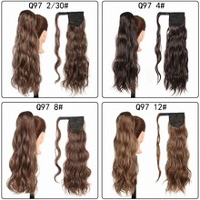 Ponytail Extensions Clip In Hair Wrap Around Synthetic Long Wavy Natural Wave Hairpieces Pony Tail Fake Piece Heat Resistant