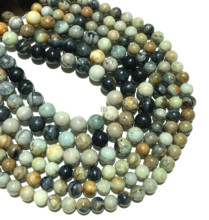 Natural Stone Picasso Jasper Beads Round Loose Beads 4mm 6mm 8mm 10mm 12mm Healing Energy DIY Necklace Bracelet Jewelry Making цена 2017