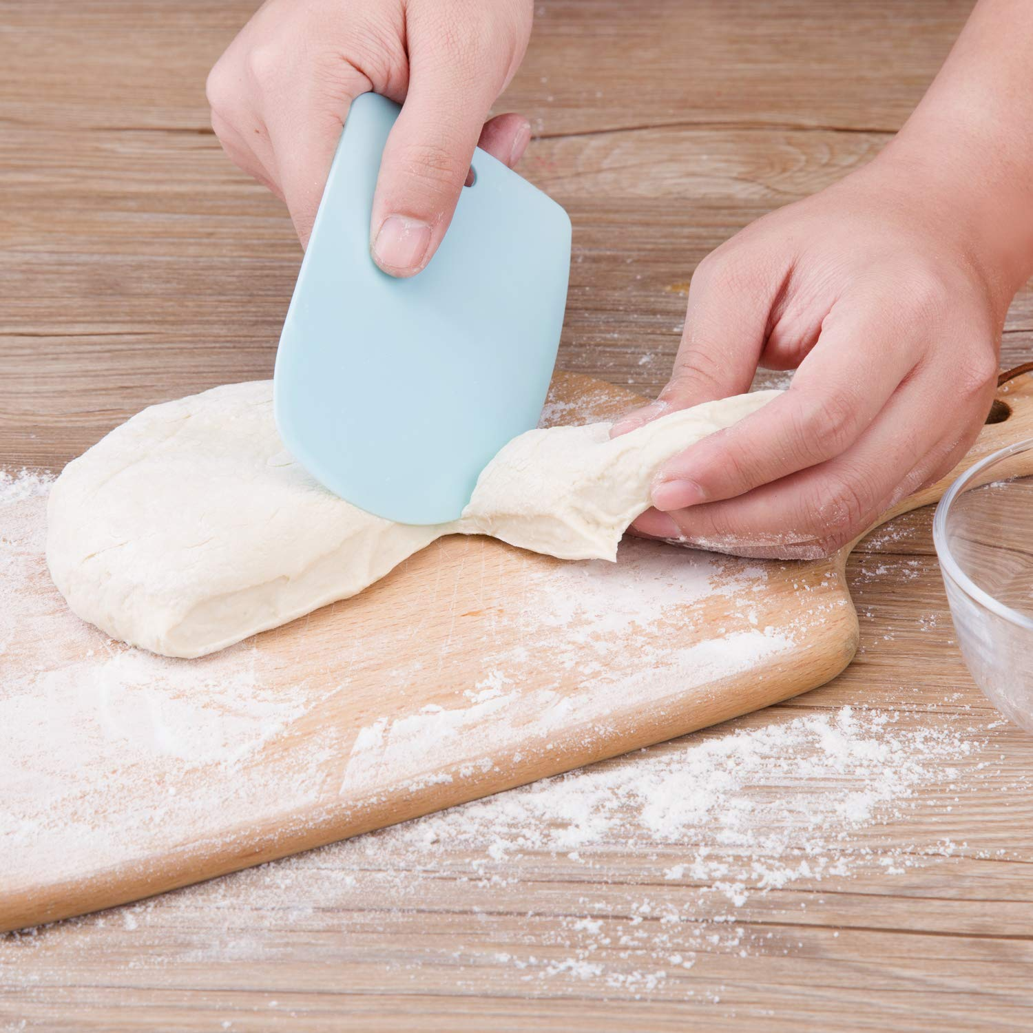 Multi Purpose Plastic Dough Scrapers Straight Curved and Zigzag Edges|Kitchen Gadget Sets| |  - title=