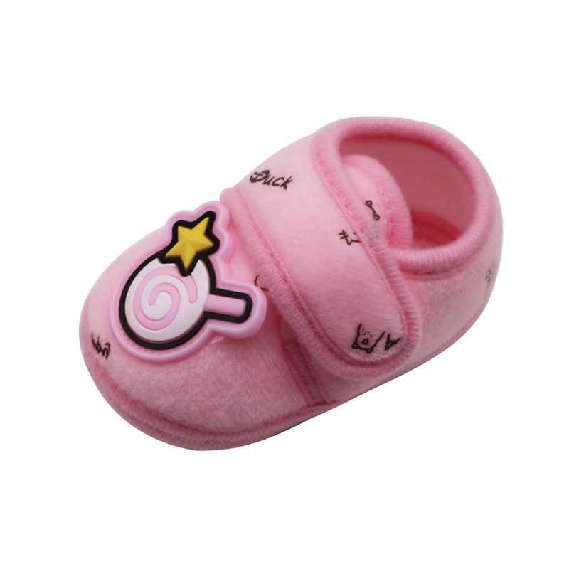 חמוד סתיו תינוק נעלי כותנה Prewalker רך תחתון אנטי להחליק תינוק נעלי תינוקות פעוט קריקטורה ממתקי הליכה נעליים