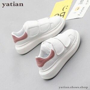 Image 5 - Novo coreano sapatos femininos plataforma plana estudantes respirável branco zapatos de mujer alpercatas senhoras sapato B0 141
